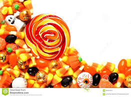 pile of halloween candy over white stock photo image 58491267