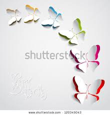 Greeting Pictures Greeting Card Paper Butterfly Vector Stock Vector 117690859