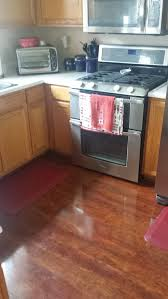 honey oak cabinets cherry floor what color granite