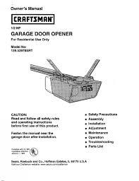 craftsman 1 3 hp garage door opener wiring diagram wiring