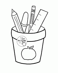 supplies coloring page for kids coloring pages