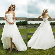 discount country western high low wedding dresses sweetheart