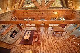 Open Cabin Floor Plans Bluff Mountain Cabin Near Pigeon Forge Apache Sunset
