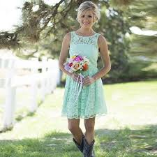 mint lace bridesmaid dresses aliexpress buy country western mint green lace bohemian