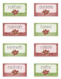holiday place card template excel pdf formats