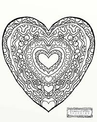 love heart colouring pages color pages hearts heart