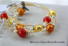glass beads bracelet images Valentine 39 s day gift idea murano glass bead bracelets from red jpg