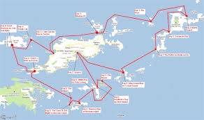 map of the bvi bvi yacht charters trip review the woods family adventure aboard