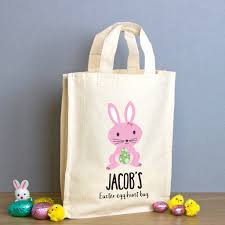 easter bags personalised easter egg hunt mini tote bag by able labels