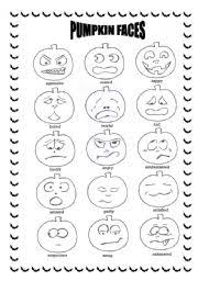worksheet halloween pumpkin faces