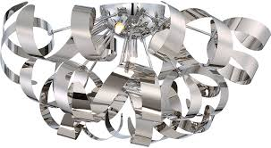 Ceiling Flush Mount by Quoizel Rbn1622c Ribbons Modern Polished Chrome Xenon Flush Mount