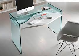 bureau verre design contemporain bureau en bois laqué en verre contemporain strata tonelli