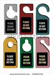 Do Not Disturb Desk Sign Hotel Do Not Disturb Door Hanger Stock Vector 226854256 Shutterstock