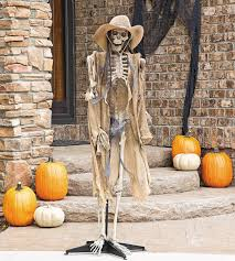 indoor outdoor halloween skeleton decorations ideas front door