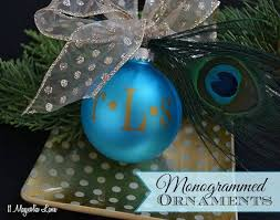 monogrammed ornament diy monogrammed ornament