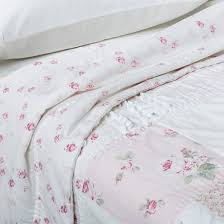 pink u0026 white ditsy patchwork quilt simply shabby chic target