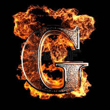 burning letter made in 3d graphics stock photo picture and