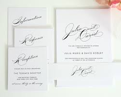simple wedding invitations simple wedding invitation suite with large names wedding invitations