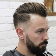 skin fade comb over hairstyle 30 pompadour haircuts hairstyles