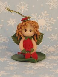 baby fairy christmas ornament polymer clay creation polymer