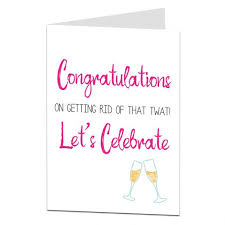 congratulations on your divorce card congratulations on your divorce card