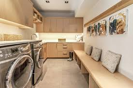 modern silver floor l shaped dedicated laundry room designs laundry room contemporary with