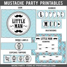mustache party mustache party printables party printables