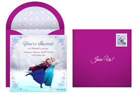 online birthday invitations plan a whimsical frozen birthday party
