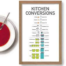 conversion mesure cuisine tableau de conversion de cuisine cuisson cadeau recette