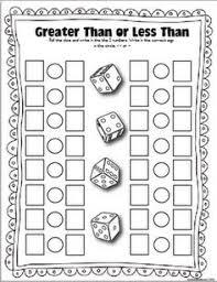 greater than or less than munchin math pinterest dice math
