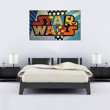 romero britto star wars canvas brazilian art world art romero britto star wars canvas