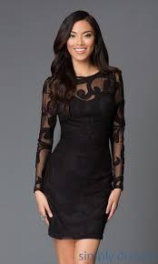 short black cocktail dresses black party dresses long sleeve