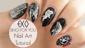 exo singforyou inspired nail art tutorial n y a n tutorials