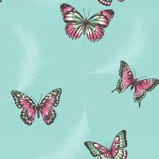 girls bedroom butterfly wallpaper in pink white teal more new