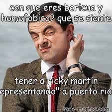 Ricky Martin Meme - arraymeme de con que eres boricua y homofobico que se siente tener a