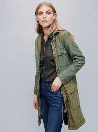 Free People Parka Free People Colorblock Military Parka In Blue Lyst