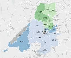 Ga Zip Code Map Atlanta Population U0027s Life Expectancy Varies By Zip Code Wabe 90 1 Fm