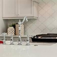 Arabesque Backsplash Tile by Beveled Arabesque Tiles Transitional Kitchen Georgette