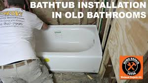 Installing Bathtub How To Install A Bathtub American Standard U0027s Americast Step By