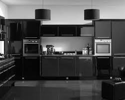 interior luxury black wooden kitchen cabinet features stainlees