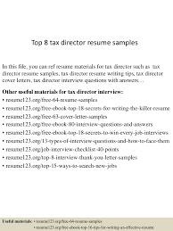 Resume Sample Kpmg by Top8taxdirectorresumesamples 150511080415 Lva1 App6891 Thumbnail 4 Jpg Cb U003d1431331501