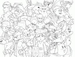 coloring download super smash brothers coloring pages super