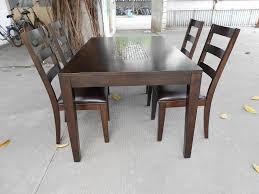 imposing design hardwood dining table set solid wood table set