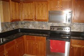 Kitchen Countertops And Backsplash by L Shape Kitchen Decoration Using Black Granite Kitchen Counter