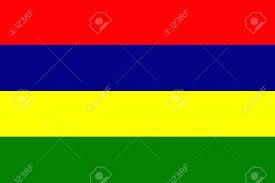Mauritius Flag Resmi Renklerde özgün Ve Basit Mauritius Bayrak Izole Vektör