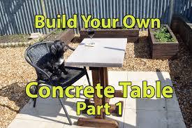 Cement Patio Furniture Sets by Build A Concrete Patio Table Part 1 Youtube