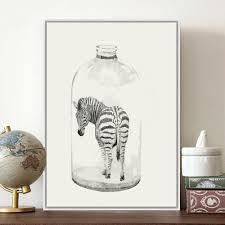 aliexpress com buy nordic creative paintings minimalist zebra