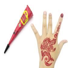 6pcs colored golecha henna tattoo paste cream cones indian mehndi