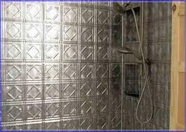 Tin Tile Backsplash Image Of Tin Backsplash Tile Backsplash - Shower backsplash