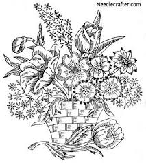 Flower Designs For Embroidery 288 Best Embroidery Patterns Flowers Images On Pinterest